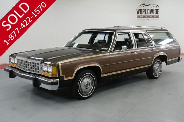 1985 FORD LTD COUNTRY SQUIRE WAGON. 33K ORIGINAL MILES!