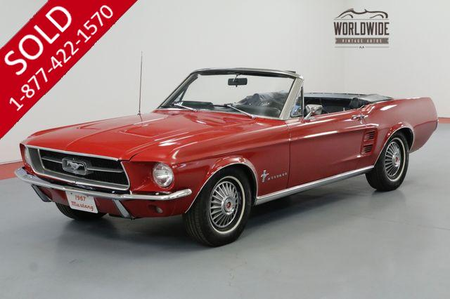 1967 FORD MUSTANG 302 AUTOMATIC. POWER TOP SUMMERTIME FUN