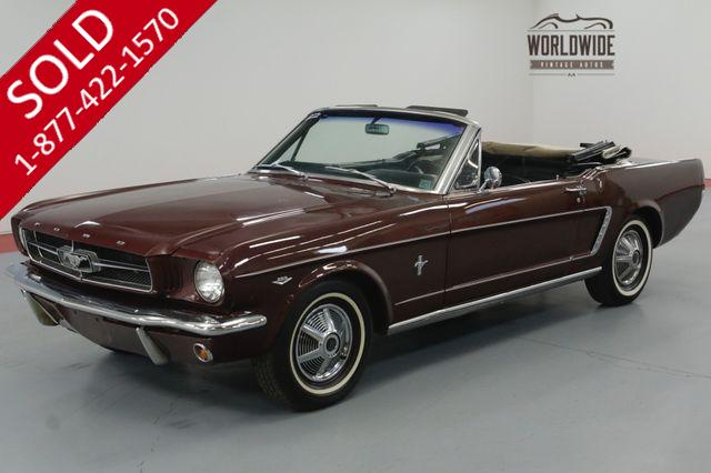 1965 FORD MUSTANG CONVERTIBLE 289 AUTO ORIGINAL.