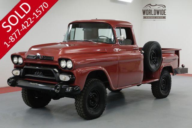 1958 GMC 100 RESTORED.RARE. GMC NAPCO! ORIGINAL 4X4!
