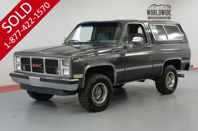 1986 GMC JIMMY 4X4 RESTORED V8 AUTO CONVERTIBLE AC! BLAZER