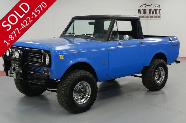 1972 INTERNATIONAL SCOUT II HALF CAB. RARE. NEW PAINT. TRAIL OR DRIVE.