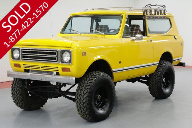 1978 INTERNATIONAL SCOUT LOW MILES. AUTO. 4X4. AC. CONVERTIBLE