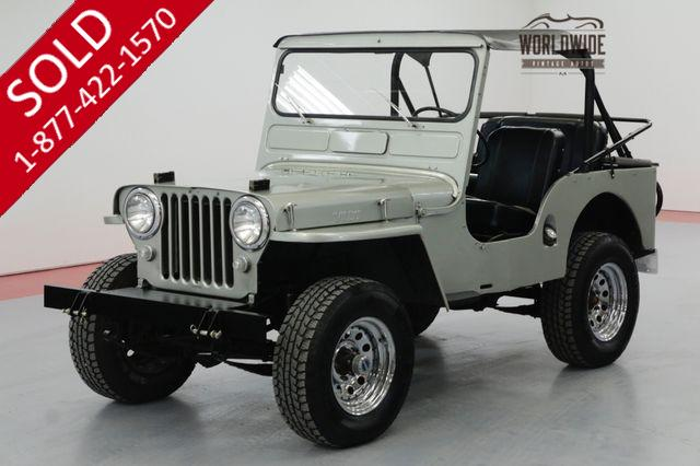 1950 JEEP CJ3A 198 CID V6 3-SPEED 4X4 BIKINI TOP