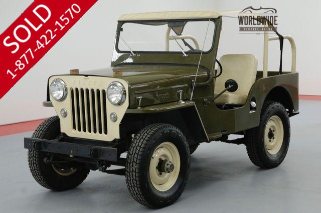 1954 JEEP CJ3B WILLYS RESTORED V8 HOT ROD 4X4 2K MILES