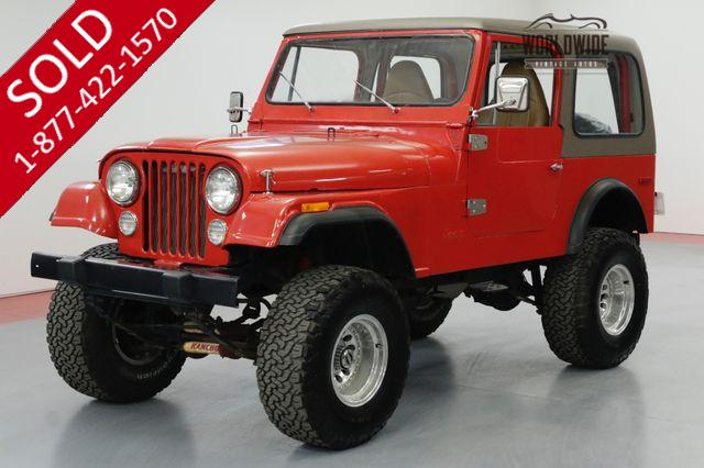 1980 JEEP CJ7 4x4 CONVERTIBLE. V8 LIFTED HARD TOP