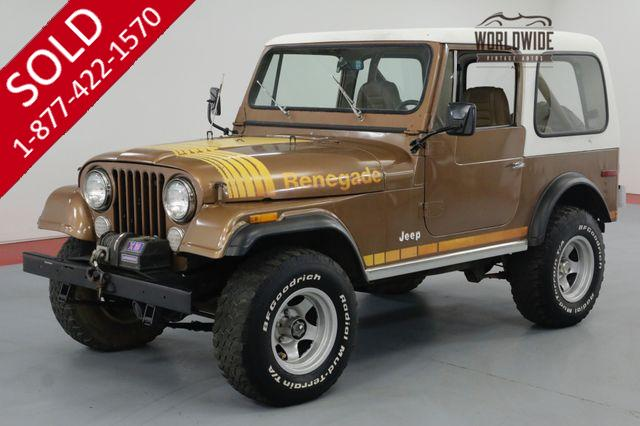 1980 JEEP CJ7 RENEGADE. COLLECTOR SURVIVOR. 69K MILES! AC!