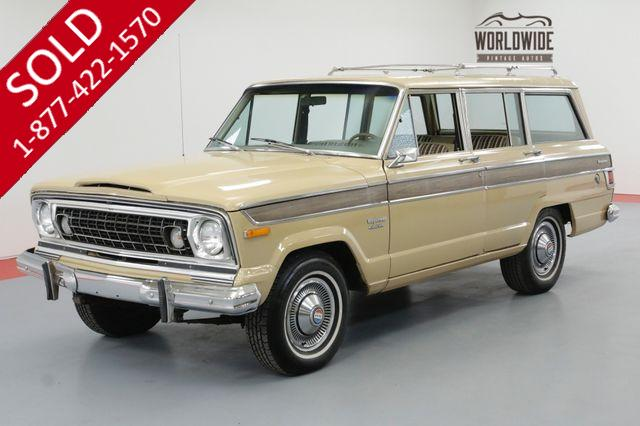 1976 JEEP WAGONEER TWO OWNER ALL ORIGINAL 88K. AC!