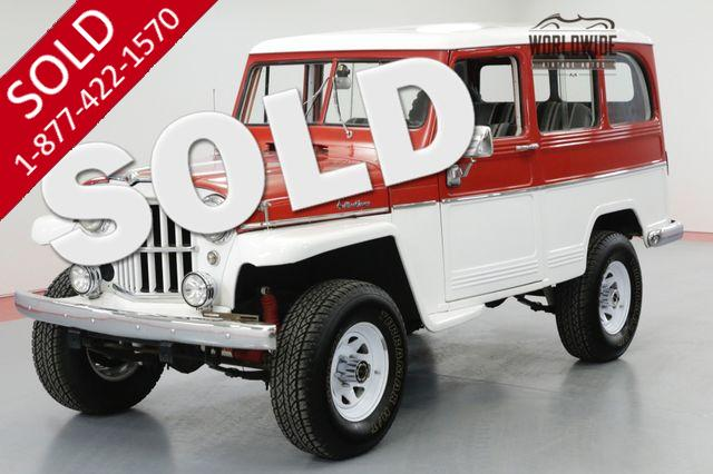 1961 JEEP WILLYS WAGON RESTORED RARE WAGON 4X4 SUPER HURRICANE