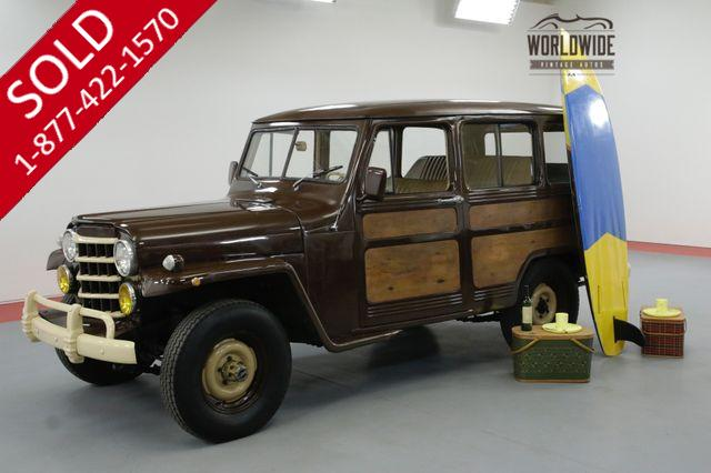 1951 JEEP WILLYS WAGON OVERLAND WAGON 4X4 WOOD GRAIN NICE!