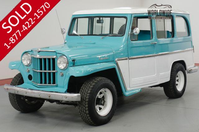 1960 JEEP WILLYS WAGON  RESTORED. RARE. $16K IN NEW RECIEPTS. 4X4
