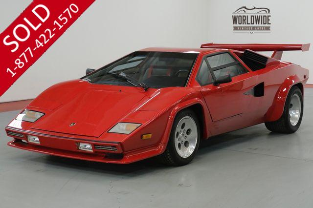 1990 LAMBORGHINI COUNTACH $65K+ BUILD CORVETTE 5.7L 5 SPEED AC! PB!