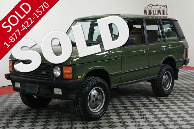 1989 LAND ROVER RANGE ROVER CLASSIC COLLECTOR. 4.2 V8 4X4. THOUSANDS IN RECEIPTS