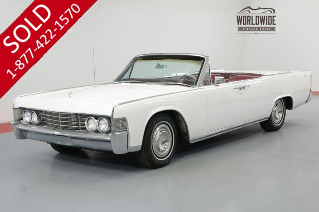 1965 LINCOLN CONTINENTAL CONVERTIBLE FACTORY AC NEW TOP