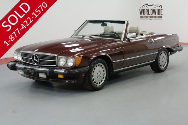 1987 MERCEDES-BENZ 560SL TWO TOP $5K+ IN RECENT MOTOR WORK IMMACULATE