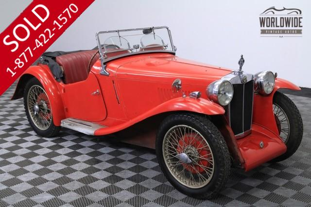 1935 MG Barn Find All Original for Sale