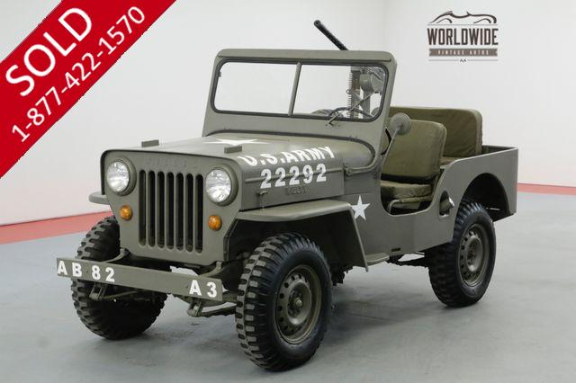 1963 WILLYS CJ3B FRAME OFF RESTORED COLLECTOR HIGH HOOD RARE